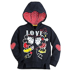 Mickey and Minnie Mouse Hoodie for Girls - ''I Love Mickey'' Collection
