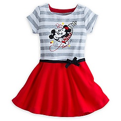 Mickey and Minnie Mouse Dress for Girls - ''I Love Mickey'' Collection