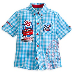 Lightning McQueen Woven Shirt for Boys