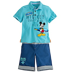 Mickey Mouse Polo Shirt and Shorts Set for Boys