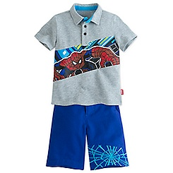Spider-Man Polo Shirt and Shorts Set for Boys