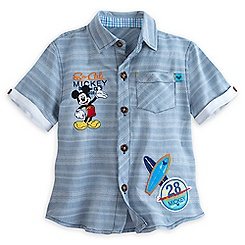Mickey Mouse Woven Top for Boys