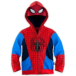 Spider-Man Costume Hooded Jacket for Kids