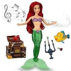 Ariel Deluxe Singing Doll Set - 11''