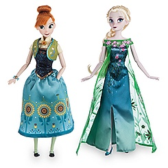 Anna and Elsa Dolls Summer Solstice Gift Set - Frozen Fever - 12''