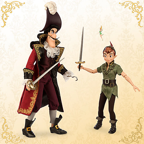 peter pan and captain hook doll set disney fairytale