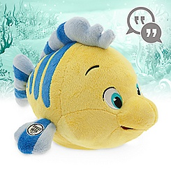 Disney Animators' Collection Interactive Flounder Plush - 10''