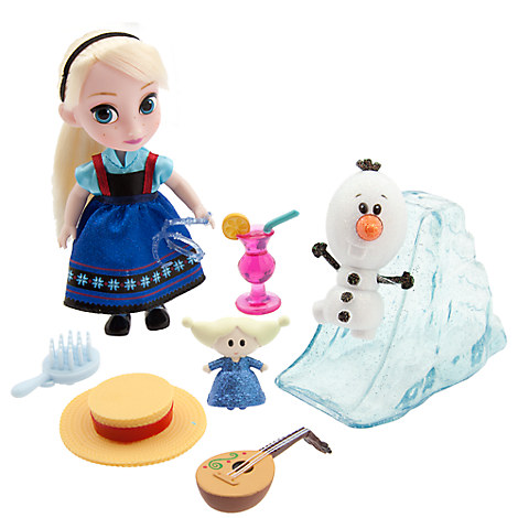 Disney Animators' Collection Elsa Mini Doll Play Set - 5''