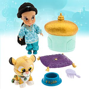 Disney Animators' Collection Jasmine Mini Doll Play Set - 5''