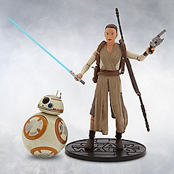 Rey and BB-8 Elite Series Die Cast Figures - 6'' - Star Wars: The Force Awakens