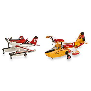 Firefighter Dusty and Lil' Dipper Die Cast Figures - Planes