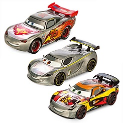 Cars Silver Light-Up Die Cast Set
