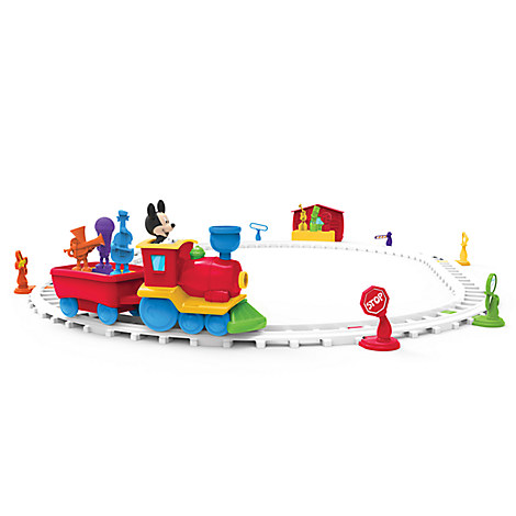 Mickey mouse imagicademy tune train play sets more for Disney mickey mouse motorized choo choo train with tracks