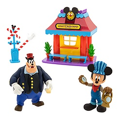Mickey Mouse Train Depot Play Set