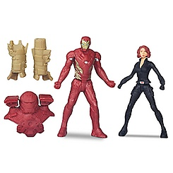 Iron Man and Black Widow Action Figure Set - Captain America: Civil War