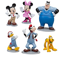 Mickey's Car Wash Mickey Mouse Figure Set