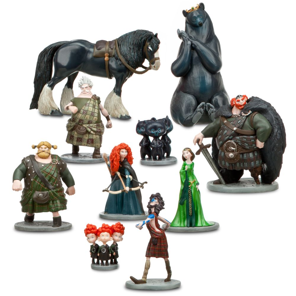 Deluxe Brave Figure Play Set -- 10-Pc.