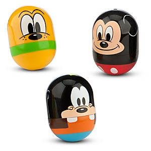 Mickey Mouse, Pluto, and Goofy Rolling Toy Set