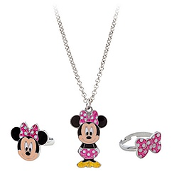 Minnie Mouse Necklace and Rings Set