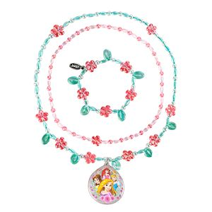 Disney Princess Necklace and Bracelet Set