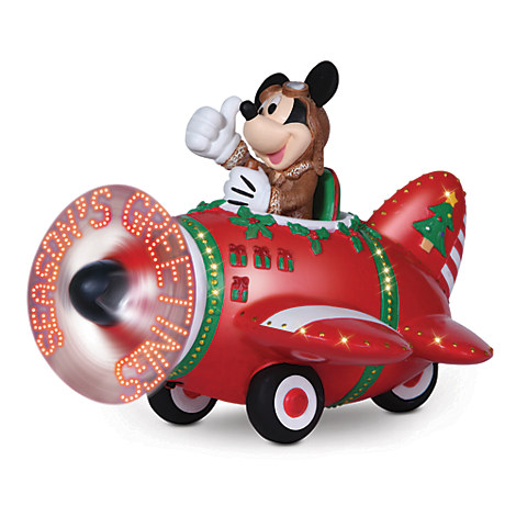 Mickey Mouse Holiday Plane Figure by Precious Moments