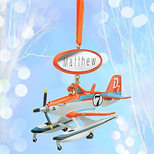 Dusty Sketchbook Ornament - Planes: Fire & Rescue - Personalizable