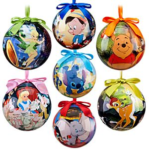World of Disney Ornament Set -- 7-Pc.
