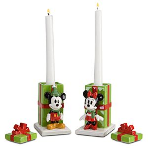 Share the Magic Minnie and Mickey Mouse Candle Holders Set -- 2-Pc.