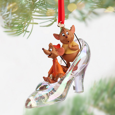Jaq and Gus with Cinderella Slipper Ornament