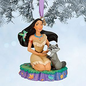 Pocahontas and Meeko Sketchbook Ornament