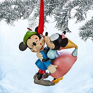 Mickey and Minnie Mouse Sketchbook Ornament - The Brave Little Tailor