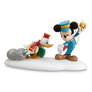 Donald Duck and Mickey Mouse ''Hurry Up, Donald'' Figurine by Dept. 56