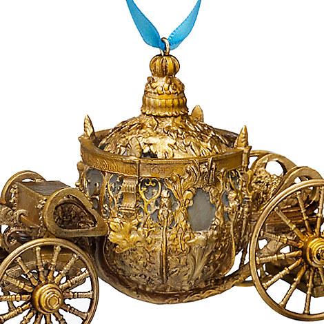 Cinderella Gold Coach Action Film Princess Ornament Box