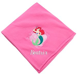 Personalizable Ariel Fleece Throw Blanket