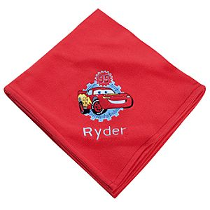 Personalizable Lightning McQueen Fleece Throw Blanket