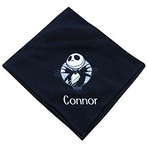 Personalizable Jack Skellington Fleece Throw Blanket
