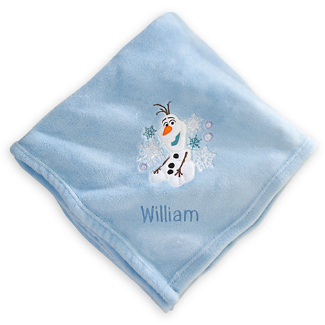 http://www.disneystore.com/olaf-throw-blanket-personalizable/mp/1362760/1000334/