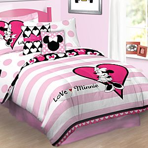 Reversible Love Minnie Mouse Comforter