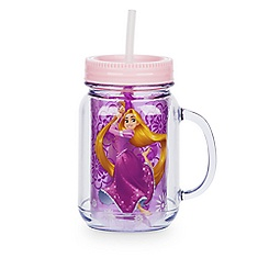 Rapunzel Jelly Jar with Straw - Small