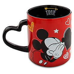 Mickey Mouse Heart Mug - ''I Love Mickey'' Collection
