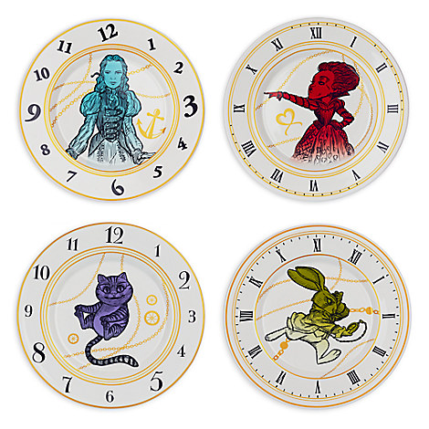 Alice Through the Looking Glass Ceramic Plate Set available at Disney Store - http://bit.ly/1pROJmv