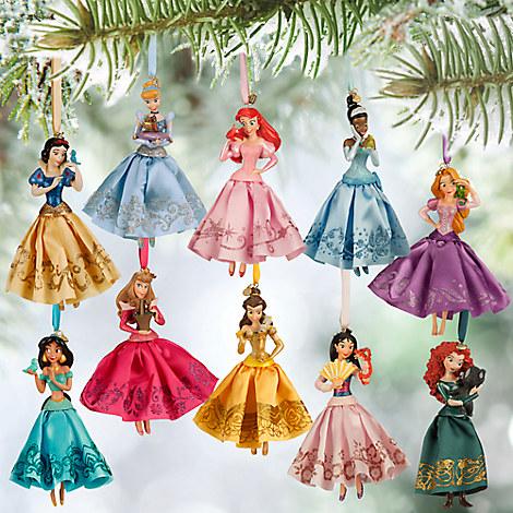 Genuine disney 2015 princess ariel rapunzel sketchbook for Ariel christmas decoration