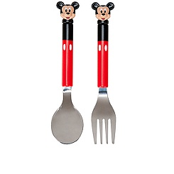 Mickey Mouse Flatware Set -- 2-Pc.