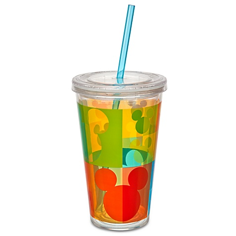 Summer Brights Mickey Mouse Tumbler with Straw -- Large