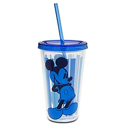 Mickey Mouse Tumbler with Straw - Blue