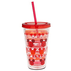 Mickey Mouse Tumbler with Straw - Red