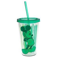 Mickey Mouse Tumbler with Straw - Green