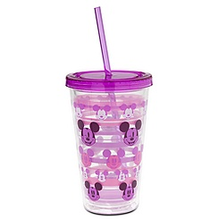 Mickey Mouse Tumbler with Straw - Purple