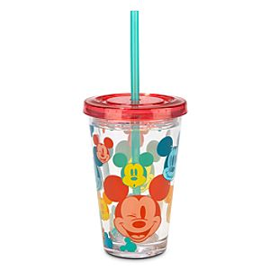 Mickey Mouse Tumbler with Straw - Summer Fun - Small