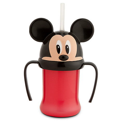 Mickey Mouse Head Cup with Straw for Kids